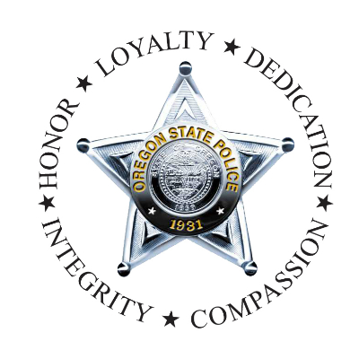 OSP logo: star badge surrounded by list of values